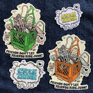 Cycle Trash x Burrito Breath Sticker pack #B-lime'n'copper