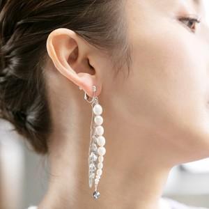 Leaf Earrings(葉と淡水パールのイヤリング)