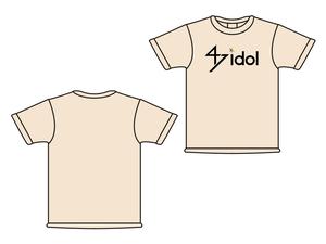 47idol 公式Tシャツ【ライトピンク・ロゴ大】