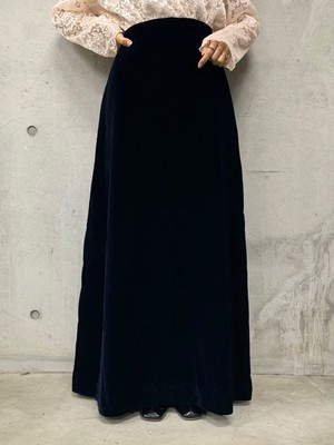 (TOYO) velours long flare skirt