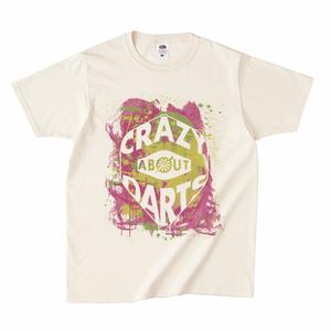 ダーツフライトロゴTシャツ(CRAZY ABOUT DARTS)