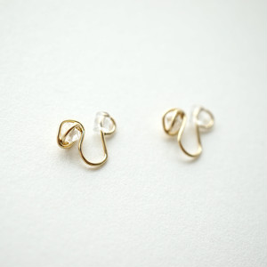 Crystal crumple ear clips