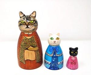 【マトリョーシカ】秘密のあるネコ(3体)