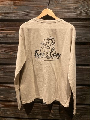 Turn Me On  L/S TEE『TURN&EASY』 collaboration with redrope(BEIGE)  Mサイズ 121-464