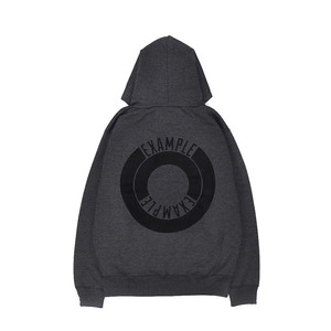 ROUND LOGO HOODIE / CHARCOAL GRAY
