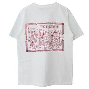 NEW YORK MAP PRINT TEE(CAL O LINE)
