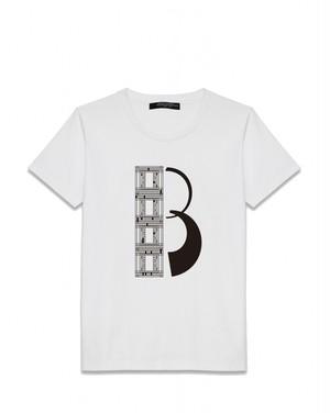 プリントPJファインジャージーTシャツ(ホワイト/ブラック)