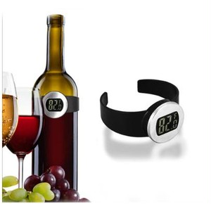 zxia 001cpct ワイン ワイン用 温度計 ワイン温度計 サーモメーター ワインサーモメーター 温度センサー センサー デカ文字 デジタル 電子