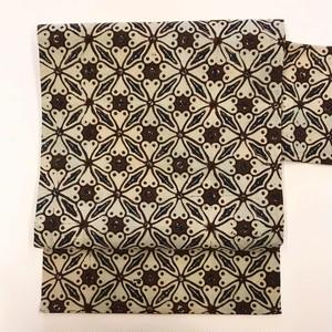 オリジナル名古屋帯(綿バティック×綿紬)