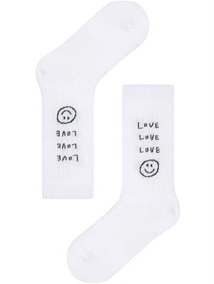 【inapsquare】rib socks Love