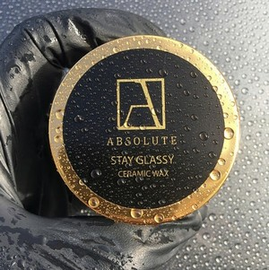 天然ワックス absolute wax Stay Glassy Ceramic Wax (ステイグラッシーセラミックワックス) 50ml 日本初上陸の高性能カーケア製品
