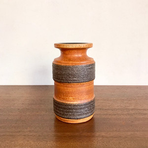 "Vintage W.Germany Pottery Vase ""Ribbed Lava"" 3078/D 西ドイツ"