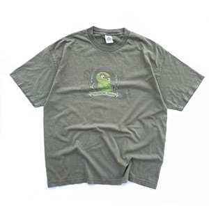 USED 90's Oscar the Grouch tee - military green