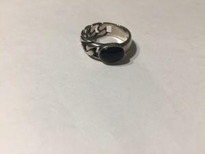 【15号】Vintage 925 harf chain silver ring ( ヴィンテージ  シルバー リング )