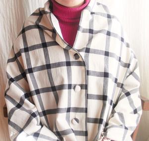 授乳ケープ*綿ウール*ブロックチェック