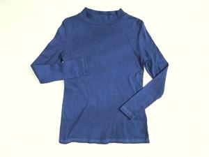 ◆100%自然素材 天然灰汁発酵建て 藍染◆ オーガニックコットン ハイネック プルオーバー