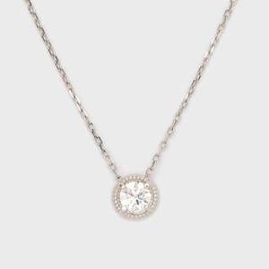 ENUOVE frutta Diamond Necklace Pt950(イノーヴェ フルッタ 0.2ct プラチナ950 ミルグレイン ダイヤモンドネックレス  スライドアジャスターチェーン)