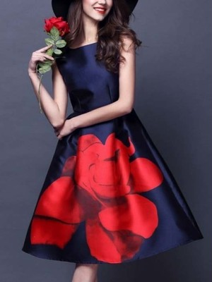 【dress】 Dating beautiful floral pattern dress