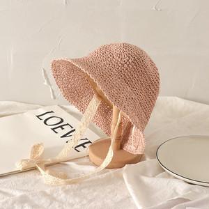 【在庫限り】リボン付麦わら帽子