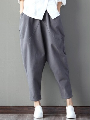 【bottoms】Ladies fashion loose casual pants