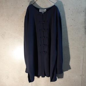 Long sleeve rayon poly china shirt