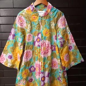 70's flower quilting dress 70年代花柄キルティングワンピース