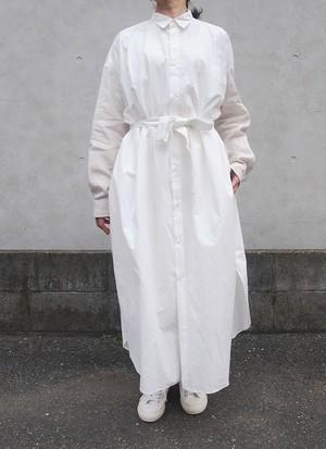 unfil  オーバーサイズシャツワンピース(オフホワイト)