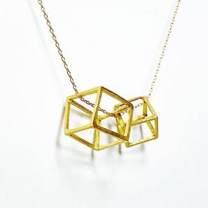 k18 ダブルキューブS ペンダント