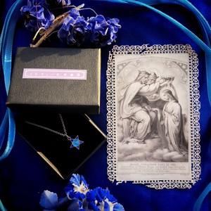 聖母戴冠のホーリーカードと星のメダイ