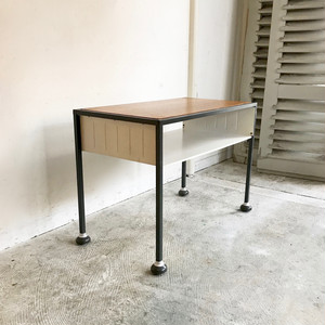 Teak × Metal Frame Trolly Side Table 1960's TOMADO オランダ