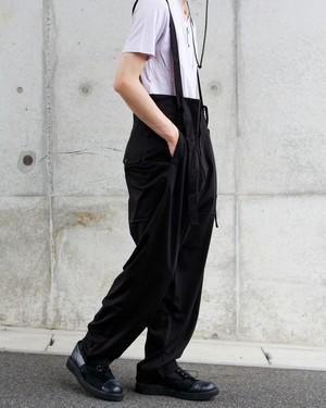 Enharmonic TAVERN High waist Suspenders Pants - Black <LSD-AH1P4>