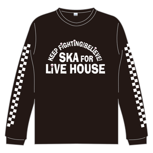 SKA FOR LIVEHOUSE  L/S Tシャツ【ブラック】