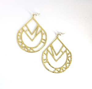 EG007G 【G-7 gold earrings】