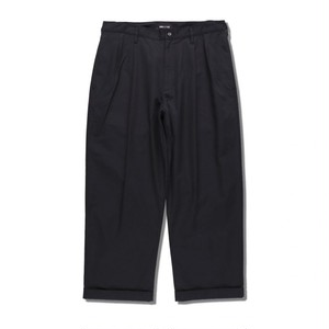 WIND AND SEA ウィンダンシー WDS TUCK TROUSERS BLACK (20S-PT-05)