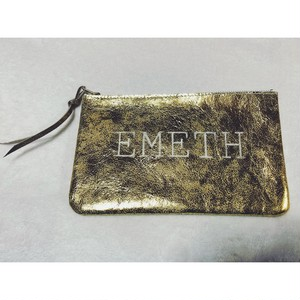 leather pouch(M)gold