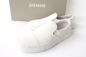 ディエッメ|DIEMME|レザースリッポンスニーカー|ガルダ|GARDA|39|WHITE NAPPA