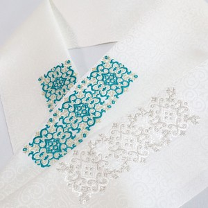 ZOU唐織トルコタイル紋半衿