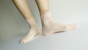 絹コットン先丸靴下 内側シルク100% あったか びわの葉染め 温活 冷え取り 出産祝い