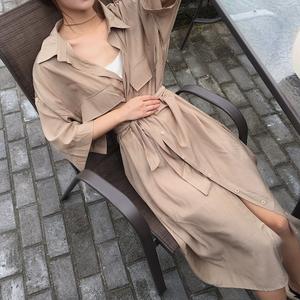 Long gown shirt dress ロング ガウン シャツ ワンピース