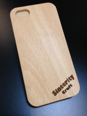 "iPhone5/5s wood case ""ブナ"""