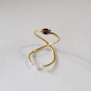 Beatriz Palacios/ Infinity Double Ring GARNET