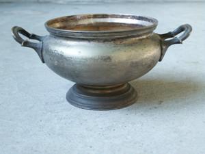 ニッケルシルバー スープ鍋(蓋付)