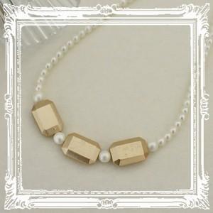 宝石みたいなパール ネックレス