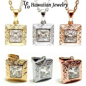 【HawaiianJewelry / ハワイアンジュエリー】 石 キュービックジルコニア ネックレス/ペンダント