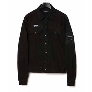 CHRISTIAN DADA - Signature Patch Denim Jacket (BLACK) -