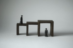 (032)wood figure-mini &structure 箱入 016