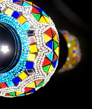 プリンセス  スタンド型 ランプ 魔法のランプ 照明 インテリア 雑貨 モザイク アート ライト