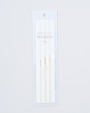 水と箔のアクセサリー HAQUA-ハクア- ゴールド 103