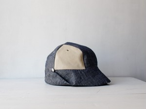 DEERCAP | LINEN×LEATHER c/#st.white【M:56~59】