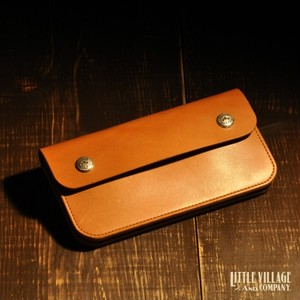 """Original Truckers' Wallet """"Long"""" w/ Silver 925 Buttons : Natural"""